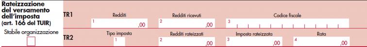 immagine del modello Redditi SC 2020 da rigo  TR1 a TR2