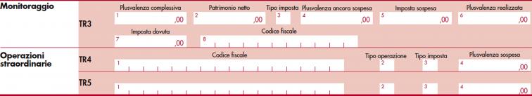 immagine del modello Redditi SC 2020 da rigo  TR3 a TR5