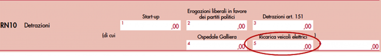 immagine del modello Redditi SC 2020 rigo RN10