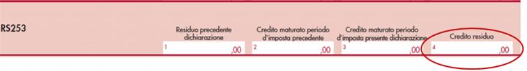 immagine del modello Redditi SC 2020 rigo RS253