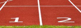 immagine di una pista di atletica leggera